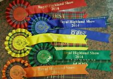 Royal Highland & Agricultural Show Rosettes, 1st-5th, 2014. Great display items
