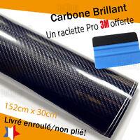 Carbone brillant réel aspect vernis thermoformable + outil 3M covering adhésif