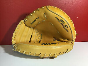 All Star Pro Professional Series CM3000 Baseball Catcher's Mitt Very Rare Tan
