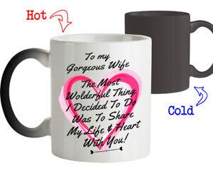 Magic Mug Love Gift for Wife Share My Life & Heart with You Coffee mug Tee Cup