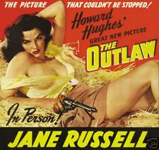 THE OUTLAW VINTAGE MOVIE PRINT STARRING JANE RUSSELL  12  x 18  -  NEW