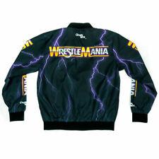 Official WWE Authentic WrestleMania 1 Retro Fanimation Chalk Line Jacket Multi
