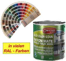 Wetterschutzfarbe Owatrol Solid Color Deckfarbe in 2,5 Liter - Farbtöne RAL