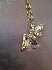 Bolsa De Regalo Gratis Hadas Ángel Collar Cadena de oro plateado cristal bisutería