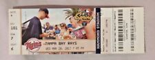 2013 Minnesota Twins Vs Tampa Bay Rays 3/20/13 unused MLB Ticket