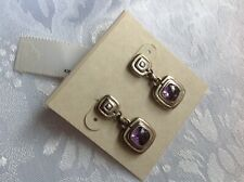 *JOHN*HARDY*SQUARE*AMETHYST*STERLING*SILVER*EARRINGS*NEW*FROM*NORDSTROM*RACK*