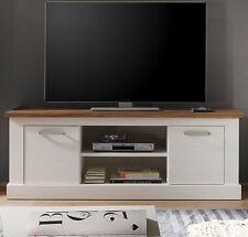TV Tisch weiss Pinie Nussbaum Satin Fernsehtisch Landhaus Möbel Toronto 160 cm