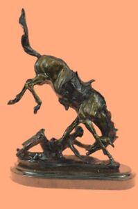 Handcrafted HotCast Wicked Pony by Frederick Remington Bronze Masterpiece Decor