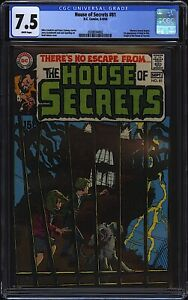 House of Secrets #81 CGC 7.5 WHITE DC 1969 Neal Adams Cover 1st Abel