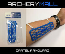 Cartel Archery Beginner / Youth Armguard -Blue Plastic, comfortable