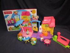 Fisher-Price Little People Ice Cream Shop  with EXTRA Figures and 5 Play Pieces