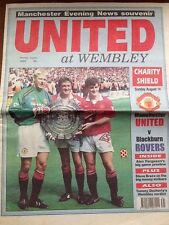 Manchester United FC - Charity Shield - Wembley 1994 Souvenir Newspaper 01/08/94