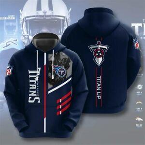 Tennessee Titans Hoodie Men's Football Sweatshirt Hooded Pullover Sports Jacket