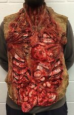 Gory Bloody Torso Chest Piece Halloween Fancy Dress Zombie Guts Heart Vest Apron