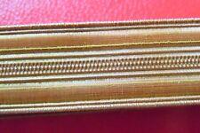 1 Mètre GALON MILITAIRE cannetille OR 13mm SHAKO COIFFURE France à identifier