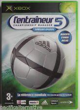 Jeu L'ENTRAINEUR 5 sur microsoft XBOX francais sport gestion de foot 2004 2005