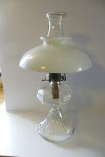 dimpled top flu glass kerosene Eagle brand vtg big lamp light large  antique
