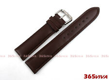 19mm Brown Smooth Genuine Leather Buckle Watch Straps Band Bracelet L05