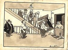 Originalzeichnung Hans Steiner Karikatur 30er Jahre Simpliccisimus ? Klavier