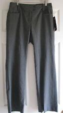 6P Rafaella ladies gray pinstripe dress pants stretch womens Curvy Fit NWT $79