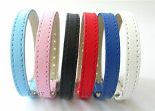 50pcs 8mm Copy Leather  Wristband Fit 8mm Slide Charms / letters  DIY Accessory