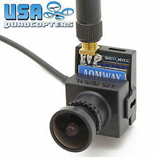 Aomway 5.8GHz FPV Camera w/ Built-In 200mw Video Transmitter 700TVL Plug-N-Play