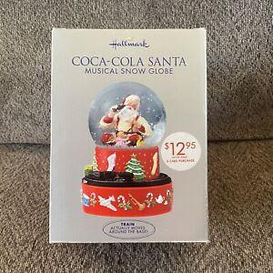 2001 Hallmark Coca Cola Santa Christmas Musical Snow Globe Perfect Condition