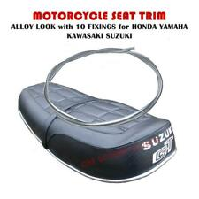 MOTORCYCLE SEAT TRIM ALLOY LOOK with 14 FIXINGS for HONDA SUZUKI YAMAHA KAWASAKI