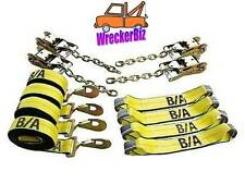 ROLL BACK CAR CARRIER 8 POINT TIE DOWN STRAPS, Car Carrier, Hauler, Rollback