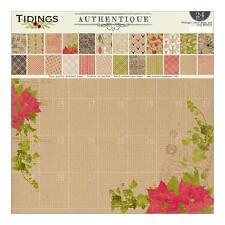 Authentique Tidings Collection Scrapbook Kit 300+ pcs Paper Stickers Christmas