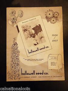 Hallawell Seed Co. Blue Glass Nursery Catalog 1956/1957