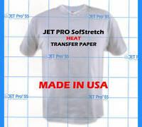 JETPRO SofStretch Heat Transfer Paper 11x17 10 SHEETS :)