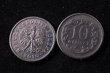 Poland Polish 10 Grosz 2010 Republic Coin zł Eagle gr Groszy