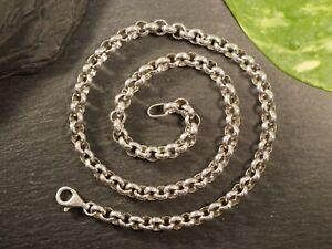 Starke 925 Sterling Silber Kette Erbsenkette Große Glieder Schwer Unisex