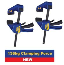 """2x IRWIN 12""""/300mm QUICK-GRIP Change TWIN Clamp & Spreader 136kg Force,T512QCEL7"""