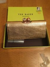 Bnwt Genuine Ted Baker Solange Leather Bobble Matinee Purse Rose Gold Boxed
