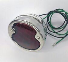 1932 Ford LH Tail Light Stainless Steel Housing Glass Lens Brake Lamp 12V Left