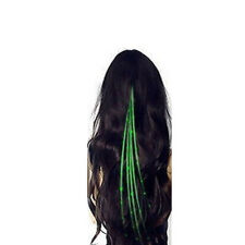 New Glow Hair LED Light Up Fiber Optic Extensions Party Rave Flashing 5 Colors