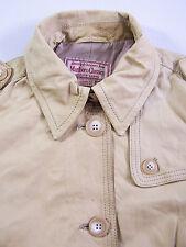 MARLBORO Classics Giacca in pelle morbida con cintura Donna Grande Beige Vintage ljktk 209 #