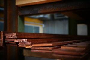 Kupfer E-Cu Flach Flachstange 60 x 5 mm Länge: 200 - 1000 mm EN CW 004 A
