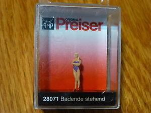 Preiser HO #28071 Recreation & Sports -- Standing Female Swimmer (1:87th Scale)