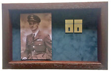 Large Medal Display Case With Photograph For 3 - 4 Medals