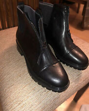 NEW GEOX BLACK LEATHER ANKLE SHOE BOOTS Eur 35
