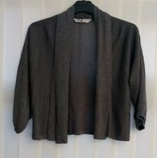 women's grey evening knitwear cardigan top size 10