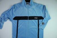 And1 Trainingsjacke Herren Gr. L Nicki Samt Hellblau 90er Vintage Retro Basket