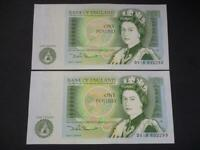 1981 SOMERSET PAIR OF UNCIRCULATED AND CONSECUTIVE £1 NOTES DUGGLEBY REF: B341.