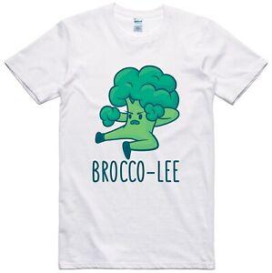 Vegan Vegetarian Funny T Shirt Broccoli Print Regular Fit 100% Cotton Tee
