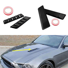 Universal ABS Car Hoods Vents Bonnet Cover Cold Air Flow Intake Louvers Hood Kit