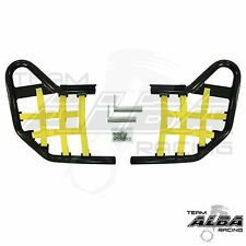 Warrior YFM 350 YFM350  Nerf Bars  Alba Racing Black bar Yellow nets  210-T1BY