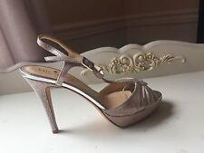 Kate Spade Garb silver lizard print sling back high heels wedding bridal sz 6 M